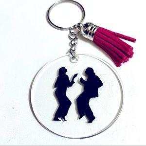 Pulp Fiction Pink Tassel Keychain